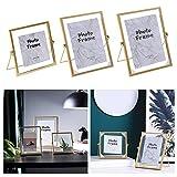 Marco de fotos Nordic de metal dorado de 4/6 / 7 pulgadas para fotos de boda recomendado para pareja de fotos de 17,8 cm