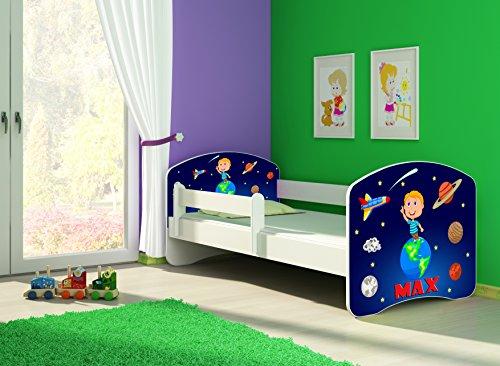 ACMA Letto per Bambino Cameretta per Bambino con Materasso Cassetto II (22 Il Cosmo, 160x80)