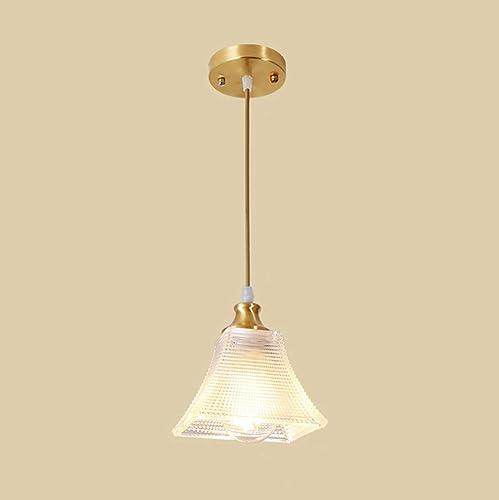 Lampe Suspension,Créatif suspendus luminaire moderne pendentif plafond lustre Rétro cuivre verre métal Lampe,100cm réglable en hauteur pour Cuisine Salle à Manger Restaurant chambre Salon,A