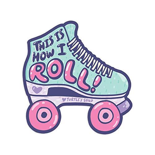 Roller Skating Sticker, Roller Derby, Derby Girls, This Is How I Roll, 90s, Vaporwave, Skater Vinyl Sticker