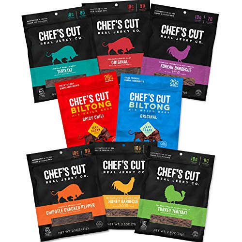 Chef's Cut Ultimate Sampler - Biltong, Beef, Chicken, Turkey (8 Pack)