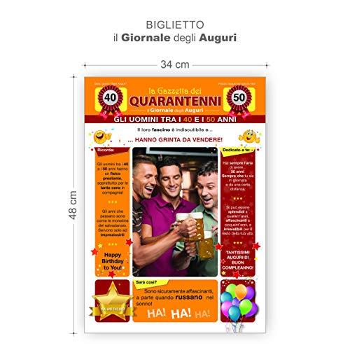 Biglietto Il Giornale Degli Auguri La Gazzetta Dei QUARANTENNI Idea Regalo Compleanno 40 Anni