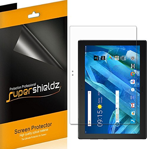 (3 Pack) Supershieldz for Lenovo Moto Tab Screen Protector, High Definition Clear Shield (PET)