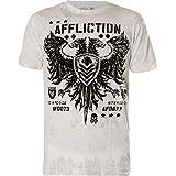 Affliction Men's Graphic T-Shirt, Value Variant, Short Sleeve Crew Neck Shirt White