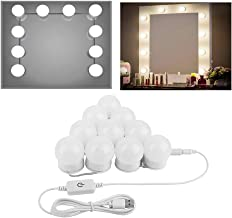 OSALADI USB Dimmable LED Touch Vanity Mirror Lights Lighting Strip for Makeup Vanity Table Bathroom (White)