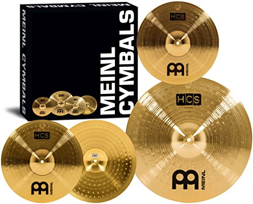 Meinl Cymbal Set Box Pack with 14 Hihats, 18 Crash/Ride, Plus a FREE 14 Crash  HCS Traditional Finish Brass  Made In Germany, TWO-YEAR WARRANTY (HCS1418+14C)