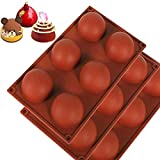 Material: Food grade silicone Size: 28.5x16.5 x3.5cm Color :coffee Shape: Silicone Half Ball Mold Package Included:1x Cake Fondant Mould
