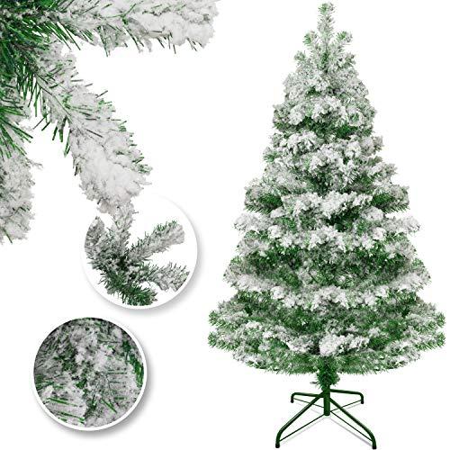 KESSER® Weihnachtsbaum künstlich 210cm mit 775 Spitzen, Tannenbaum künstlich Edeltanne Schnellaufbau inkl. Christbaum-Ständer, Weihnachtsdeko – Schnee 2,1m