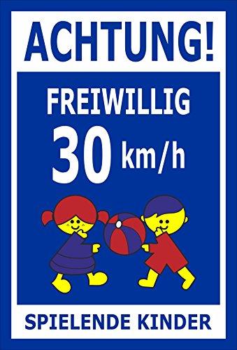 Melis Folienwerkstatt sticker schild - Willig 30 km/h - S00040-027-F 45x30cm – Hartschaumplatte – ohne Bohrlöcher