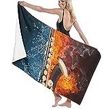 Gebrb Toallas de baño,Toalla de Playa,Manta de Playa Bath Towels Sax 31'x51' Premium Towel Blanket Super Soft Absorbency