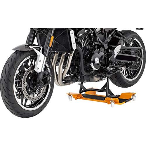 Hi-Q Tools Montageständer Motorrad Ständer Motorradheber Rangierhilfe ll für Hauptständer, für einfaches Verschieben, für Fast alle Motorräder und Roller mit Hauptständer, Rot, bis 55 cm Breite