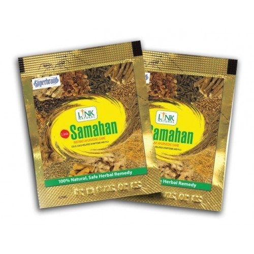 Samahan Ayurveda Herbal Drink Ayurvedic Natural Ceylon Herbal Tea Good and Effective Prevention and Relief from Colds and Symptoms of Colds, 4gx30 sachets.