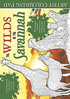 The Wilds of the Savannah Artist Colouring Pad