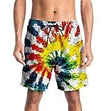 CAMLAKEE Costumi da Bagno Uomo, Calzoncini da Bagno Stampanti 3D Pantaloncini da Mare per Spiaggia Surf Piscina Stampa 3 XXL
