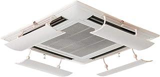 LAFULU(ラフル) エアコン 風避けエアコン風よけカバー エアコンルーバー 風よけ 冷房 暖房 風向きを自由に調整 風の直撃防止 壁に穴あけ不要 多機種対応 家庭機種対応 取り付け簡単(ホワイト 1枚入り)