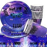 Kids Game Party Pack Vajilla de Cumpleaños, 41 pcs Videojuegos Party Supplies Decoraciones, Diseño...