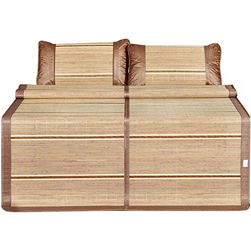Matelas Frais Mahjong d'été Mat 1.5m Matelas dortoir Simple étudiant 0.9 Mètre 1.2 Matelas Bambou Double Face Mat d'été 1.8m lit Xuan - Worth Having (Taille : 180 * 200cm)