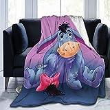 Skyteelor Cute Ee-Yore Luxury Flannel Fleece Blanket Throw Microfleece Ultra Soft Blanket for Bed Couch Living Room All Seasons Gift 60'X50'