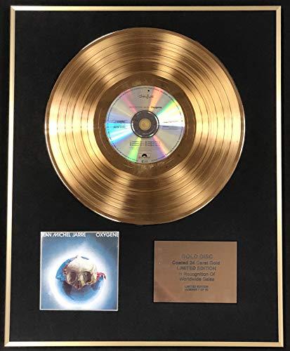 Century Music Awards - Jean Michel Jarre - Exclusivo disco de oro de 24 quilates de edición limitada - Oxígeno