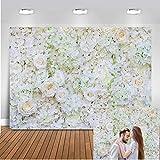 Mehofoto Telón de fondo de flores, rosa blanca, despedida de soltera, bebé recién nacido,...