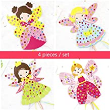 EOFK Craft Toys for Children Colorful Magic Diamond Fairy Stick Kindergarten Kids DIY Craft Sets Handmade Show Props Boy Must Haves Birthday Gifts Girls Favourite Characters 5T Superhero Girls