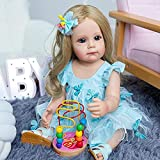 dh-15 Reborn Baby Dolls 22 Pouces 55cm Full Body Silicone Reborn Babies Real Life Like Looking Newborn Girl Dolls Toy Gifts