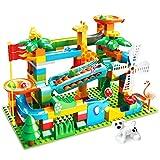 CHTOY スロープトイ 積み木 ジャングル大冒険 おもちゃ ブロック 兼用 ルーピング コースター 立体パズル 知育玩具 子供用 クリスマス 誕生日 プレゼント (178PCS)