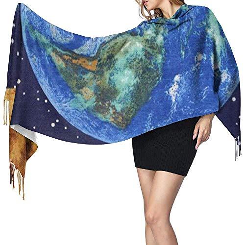 Regan Nehemiah Sjaals voor dames, lange sjaals, planet earth space sterren, warm, soft, lichtgewicht, voor de winter, herfst