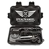 Stealth Angel Compact 8-in-1 Survival Kit, Multi-Purpose EDC Outdoor Emergency Tools and Evereyday Carry Gear, Official Survival Kit