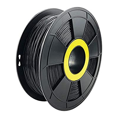ZIRO Flexible TPU Filament 1.75mm,3D Printer Filament 1.75mm TPU Flexible Filament 0.8KG Spool, Dimensional Accuracy +/- 0.05mm,Black