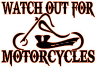Watch Out For Motorcycles Chopper Enduro Dualsport Vinyl Decal Sticker CUSTOM