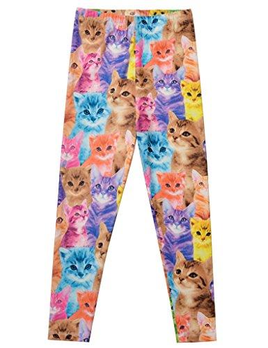 Jxstar Little Girl's cat legging rainbow legging girls pants pants girls Thin Cat 120