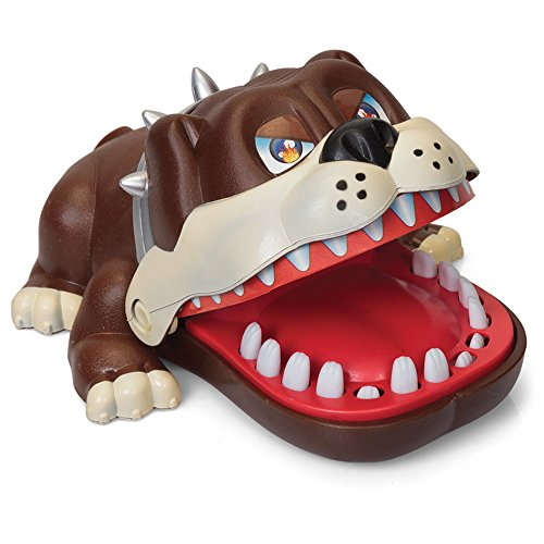 Liberty Imports Lucky Dog Mouth Dentist Party Game Bulldog Classic Biting Finger for Kids and Family Funny Novelty Toy