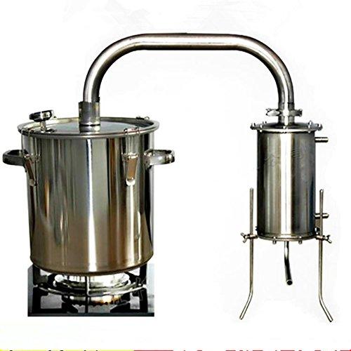 12-70L DIY CASA Alambique Destilador Destilación Still Caldera Termómetro Vino Alcohol Agua...