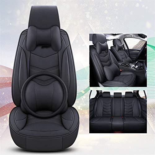 XHJZ-W Auto-Sitzabdeckung Kissen PU-Leder, vorne hinten Full Set Autositzbezüge für 5 Sitze Fahrzeug geeignet für Four Season Verwenden,D