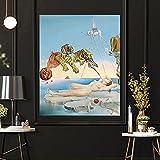 CloudShang Sueño Causado por el Vuelo de una Abeja Poster Salvador Dalí Pintura Extraño Sueño Cuadros Abstracto Surrealista Pared Arte Impresiones Vintage Cubismo Pop Arte Poster I09055