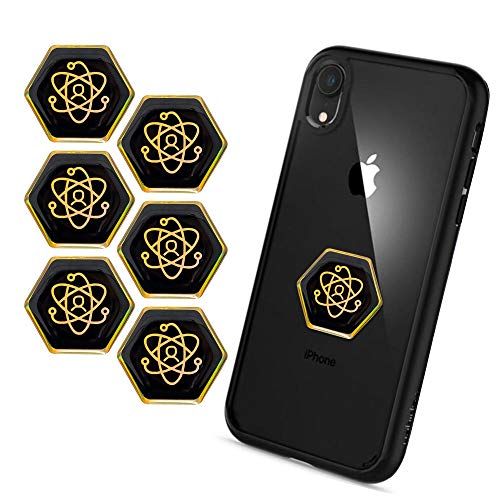 EMF Pro Radiation Protection Phone Stickers – Shungite EMF Protection Stickers – EMF Blocker for All Devices – Electro Pollution and Wave Blocker – Easy to Apply – Set of 6 Pieces