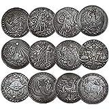 銀 Ganda 12星座の記念コイン,黄道12星座の合金銀貨,牡羊座/牡牛座/双子座/蟹座/獅子座/乙女座/天秤座/蠍座