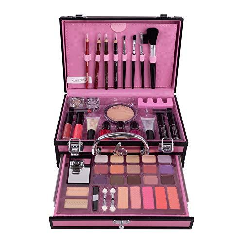 Cosmetics Schminkkoffer Make Up set mit Beauty Case - Kosmetik Schminke Koffer Schminkset Makeup...