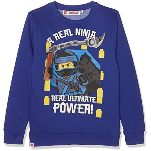 Lego Ninjago 160969 Felpa, Bleu (Surf The Web 19-3952tcx), 4 Anni Bambina