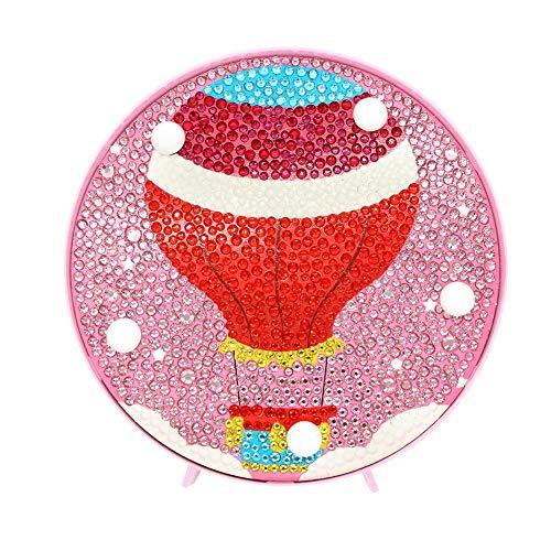 NELNISSA Led-nachtlampje met diamantschildering, om zelf te boren, kruissteek met lamp, schattig cartoon-borduurwerk, lantaarn voor kinderkamer, huis en handwerk, decoratie voor woonkamer Ballon