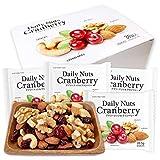 個包装 小分け ミックスナッツ&ドライフルーツ 1007g (26.5gx38袋) Daily nuts Cranberry (素焼き アーモンド くるみ 素焼き カシューナッツ ドライクランベリー) 産地直輸入 箱入り 超特価セール お得 無塩 保存料不使用 (アーモンド等級:US Extra No.1) 防災食品 非常食 備蓄食 保存食