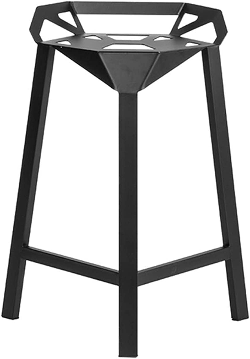 Barstools Dining Chair Metal Industrial Style Kitchen Pub Bar Stool, Iron Barstools High Stools Kitchen   Pub   Café Bar Stool with Footrest Stool Max. Load 440lb
