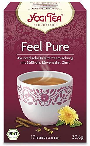 YogiTea Feel Pure, 17 Teebeutel, 3er Pack (3 x 30,6 g)