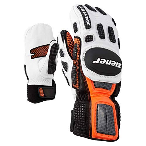 Ziener DSV Race Glove RennFäustlinge Leder Giant Slalom Mitten orange 738 neu
