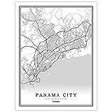 Leinwanddrucke,Kreative Schwarz Und Weiß Panama City Kein