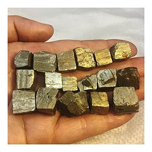 KUYIN Peu fréquent 100G Beautiful Naturel Pyrite Cristal Crystal Crystal Specimen Specimen Gem Mineral Home Bureau Aquarium Décoration (Color : 100G)