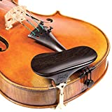 SAS Ebony Chinrest for 3/4-4/4 Violin or Viola with 32mm Plate Height and Goldplated Bracket
