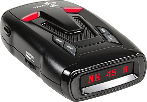 Whistler CR75 Laser Radar Detector: 360 Degree Protection, Voice Alerts, and Digital Compass