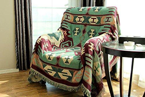 RAIN QUEEN Teppich Kelim Kilim Carpet Bodenmatte Bodenbelag Orientalischer Indischer Handgekn¨¹pfter Orient (Gr¨¹n, 130 * 180cm)